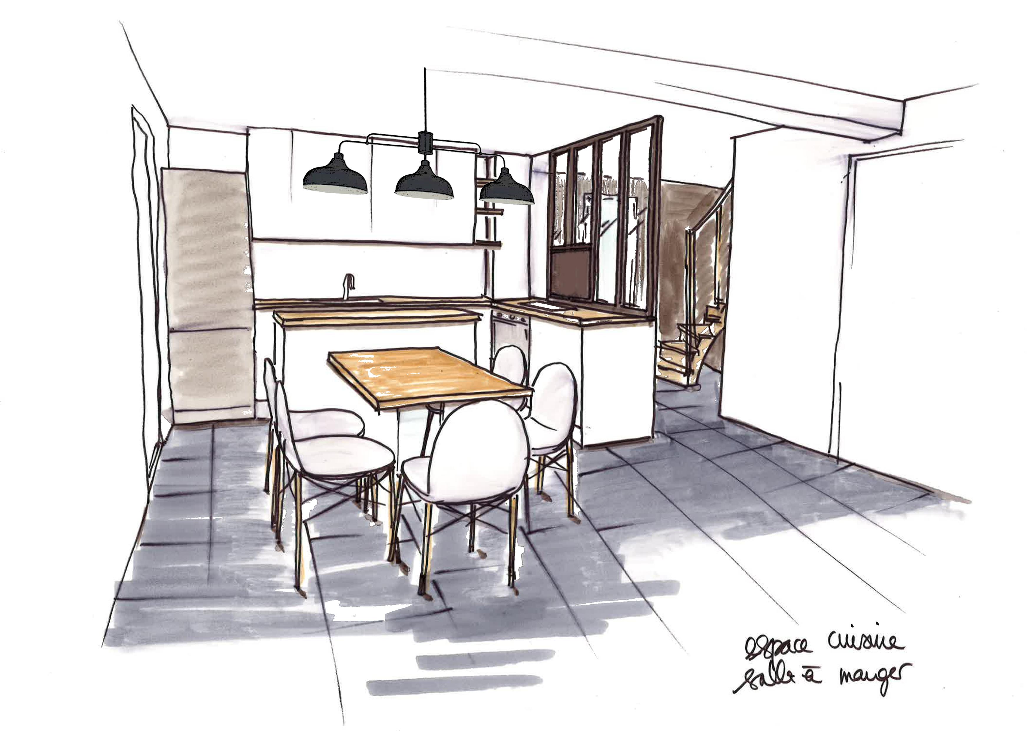 Vue cuisine-salle a manger-pret-a-louer-verriere